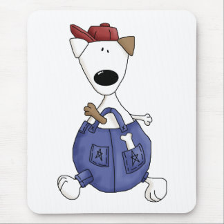 Cats 'n' Dogs · Dog in Overall Mouse Pad