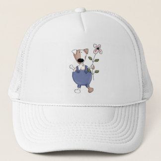 Cats 'n' Dogs · Dog with Flower Trucker Hat