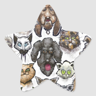 Cats n Dogs Star Sticker