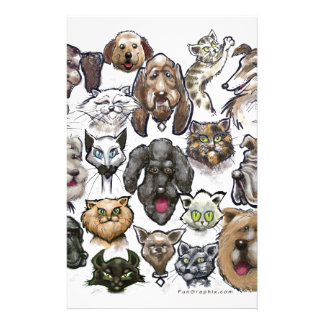 Cats n Dogs Custom Stationery