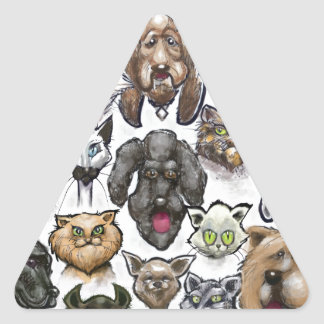 Cats n Dogs Triangle Sticker