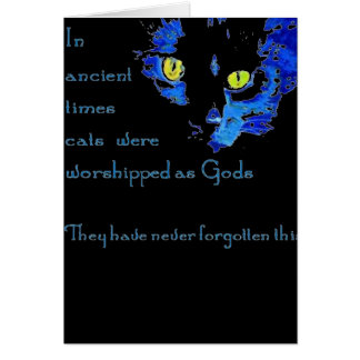 Cats Never Forget Card