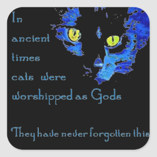 Cats Never Forget Square Sticker