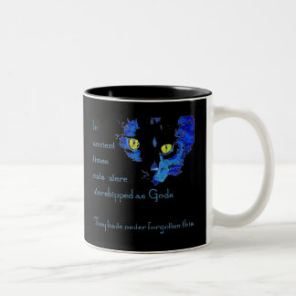 Cats Never Forget Two-Tone Coffee Mug
