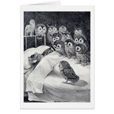 CatInArt Cats Nightmare, Louis Wain Card