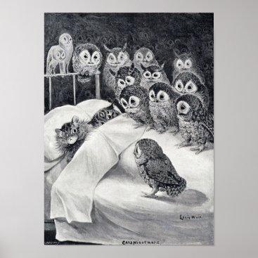 CatInArt Cats Nightmare, Louis Wain Poster
