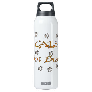Cats Not Brats 16 Oz Insulated SIGG Thermos Water Bottle