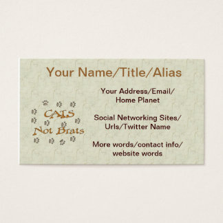 Cats Not Brats Business Card