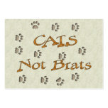 Cats Not Brats Large Business Cards (Pack Of 100)