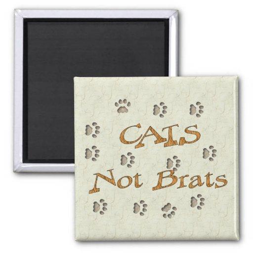 Cats Not Brats Magnet