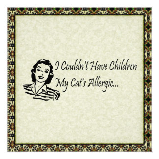 Cats Not Kids Personalized Announcement