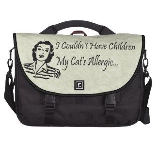 Cats Not Kids Laptop Messenger Bag