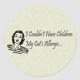 Cats Not Kids Classic Round Sticker