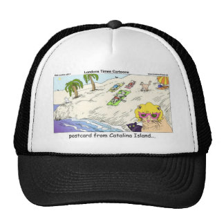Cats Of Catalina Island Funny Gifts Cards & Tees Trucker Hat