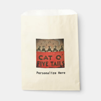 Cats of Five Tails Favor Bag