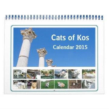 Cats of Kos Animal Calendar 2015 at Zazzle