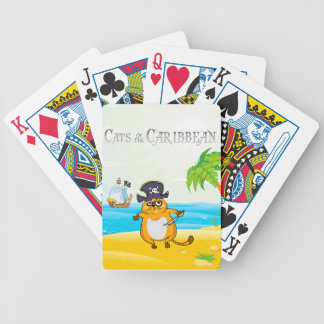 Cats of the Caribbean Bicycle Playing Cards