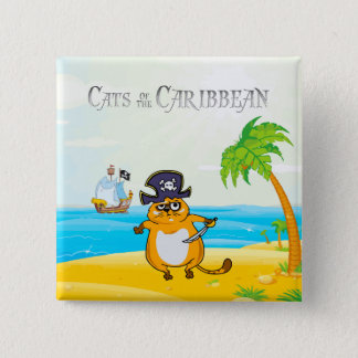 Cats of the Caribbean Button