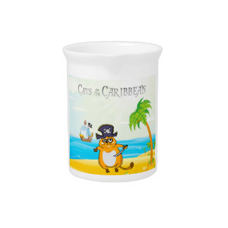Cats of the Caribbean Drink Pitchers