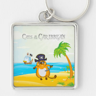 Cats of the Caribbean Keychain