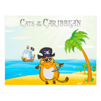 Cats of the Caribbean Postcard