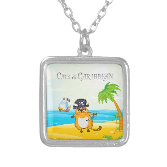 Cats of the Caribbean Silver Plated Necklace