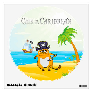 Cats of the Caribbean Wall Sticker