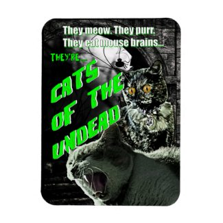Cats of the Undead Magnet