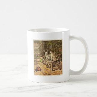 Cats on a Bench Artwork Coffee Mug