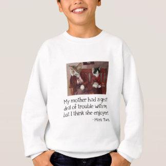 Cats on a Bench Sweatshirt