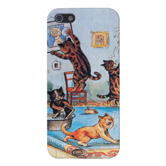 Cats on a Cleaning Spree by Louis Wain iPhone SE/5/5s Case