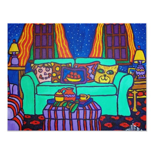 Cats on a Couch by Piliero Card