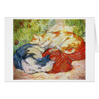 Cats on a Red Cloth, Franz Marc Card