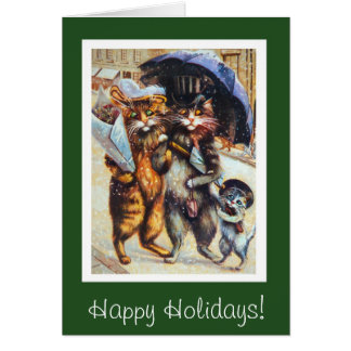 Cats on a Shopping Spree Card
