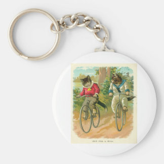 Cats On Bikes Keychains