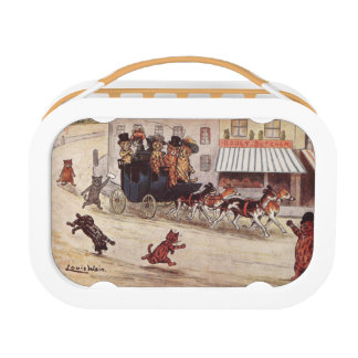 Cats on Coach Race Down High Street Lunch Box