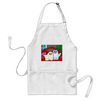 Cats on Couch Adult Apron