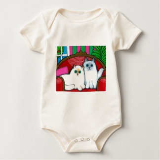 Cats on Couch Baby Bodysuit