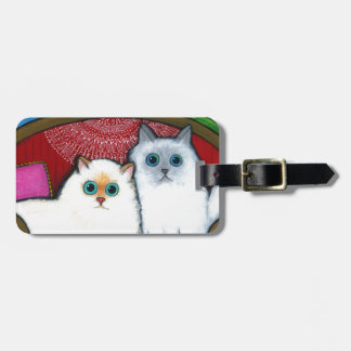 Cats on Couch Luggage Tags