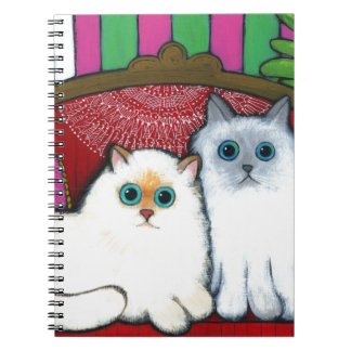 Cats on Couch Spiral Note Books