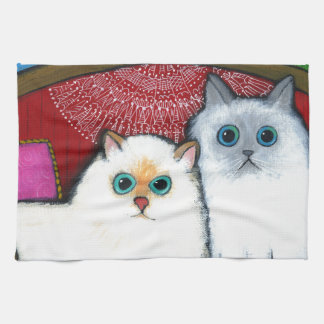 Cats on Couch Towels