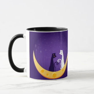 Cats on Moon Mug