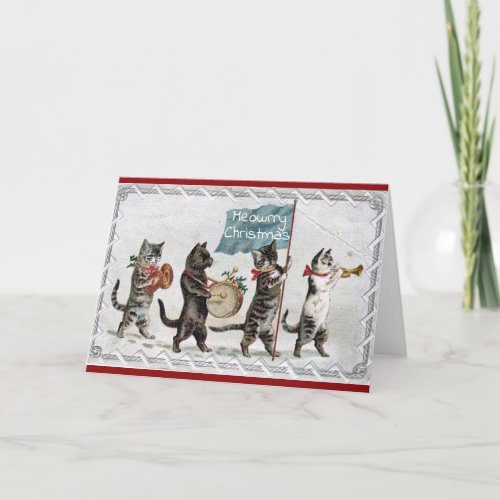 Cats On Parade Christmas Card