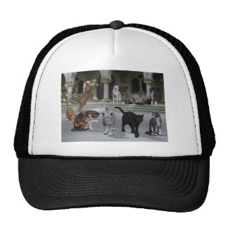 Cats on the Palace Steps Trucker Hat