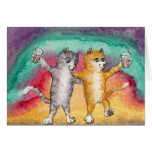 Cats on the Town Birthday CARD