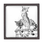 Cats on wall I Premium Trinket Boxes