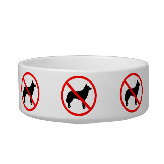 Cats Only - Not For Dogs! Cat Food Bowls