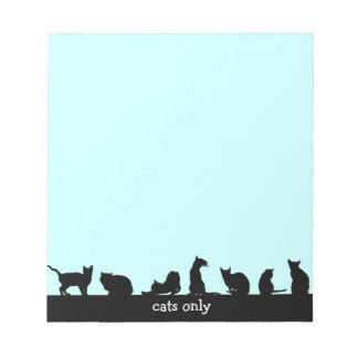 cats only memo pad
