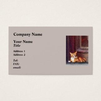 Cats - Orange Tabby in Doorway Business Card