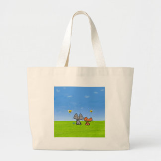 Cats Outside With Bees Bag